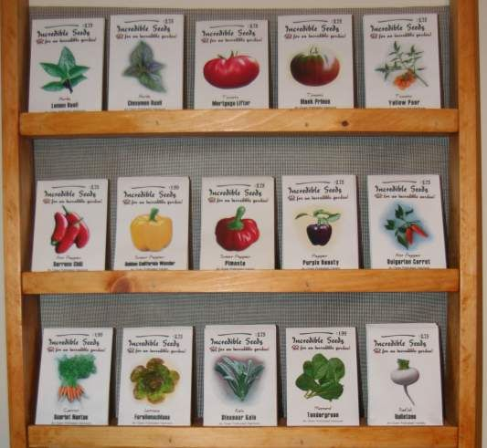Incredible Seeds Canadian Heritage And Heirloom Seeds With