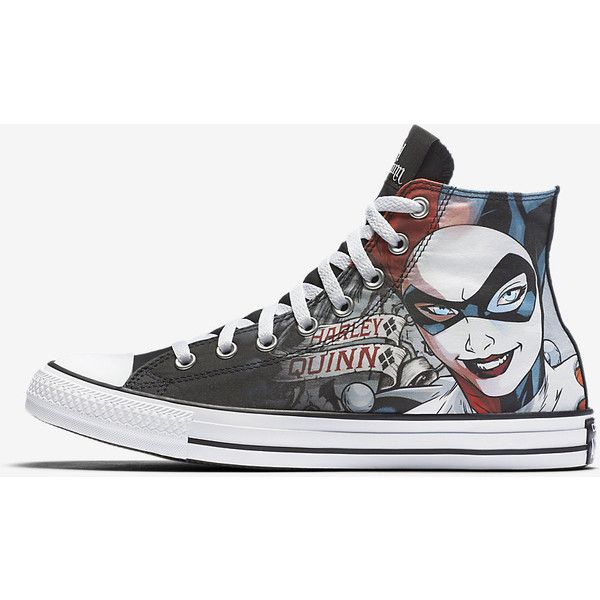 ba8b4c5a18ee Converse Chuck Taylor All Star DC Comics Harley Quinn High Top Unisex...  ( 60) ❤ liked on Polyvore featuring shoes