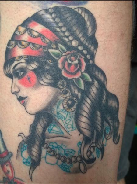 Chloe Deboo American Traditional Gyspy Pinup Tattoo I Like It