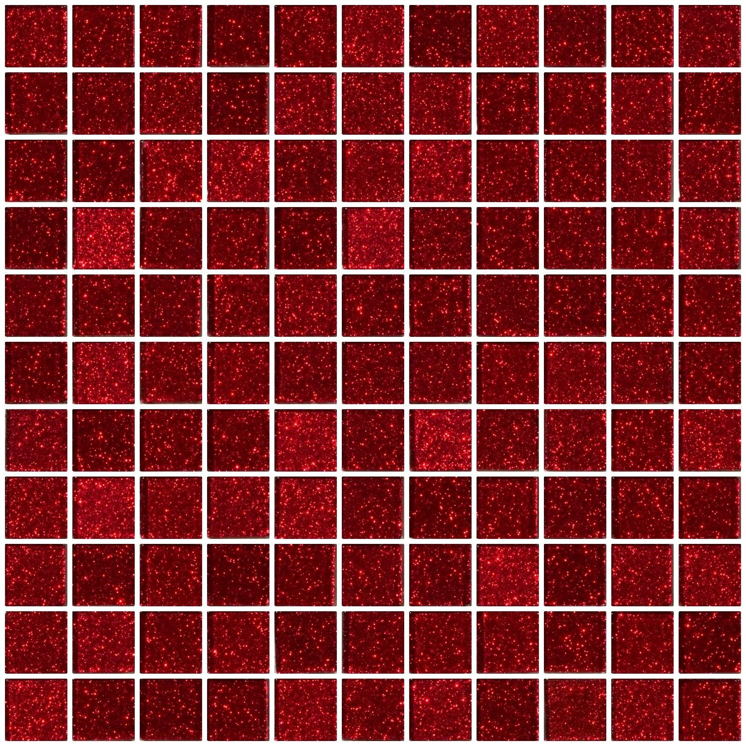 1 Inch Red Glitter Glass Tile Susan Jablon Glass Tile