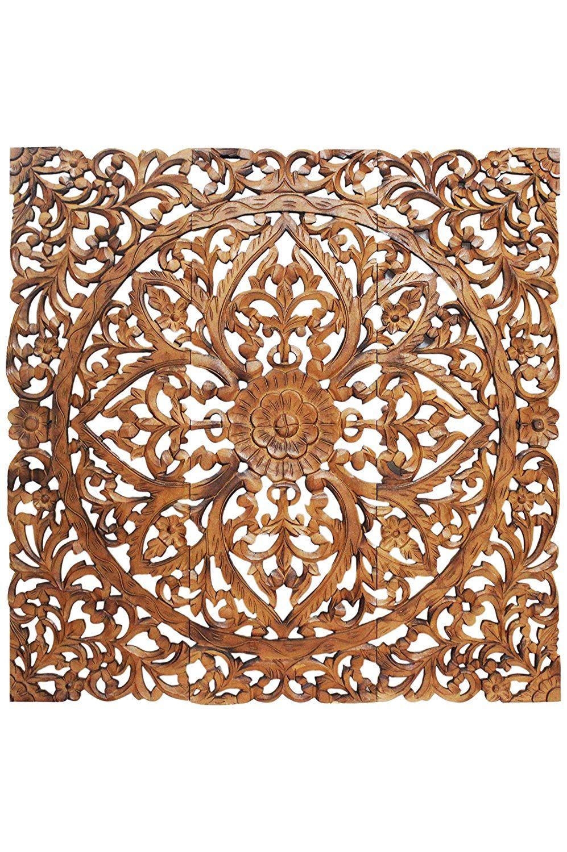 orientalische holz ornament wanddeko rajab 120cm gross xxl orientalisches wandbild wanpannel in braun als wanddekora wand orientalisch wanddekoration design japanische