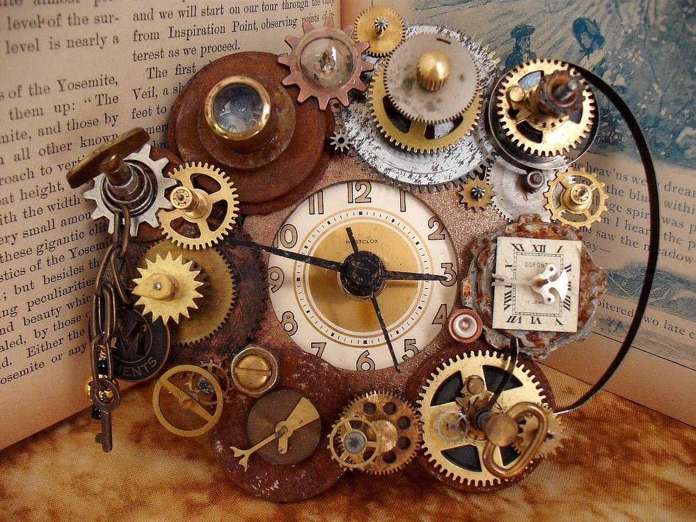 Steampunk Clock By Erin Keck Steampunk Clock Steampunk