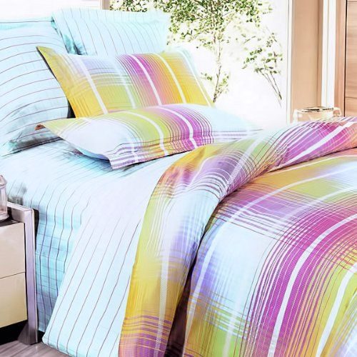 169 98 Blancho Bedding Golden Plaid Luxury 5pc Comforter Set