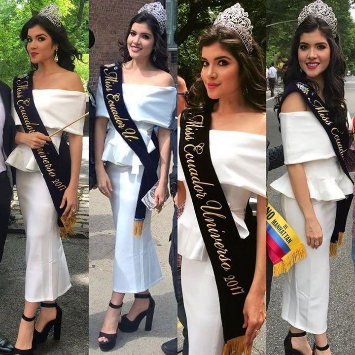 Daniela Cepeda Miss Ecuador 2017 estuvo en Nueva York con motivo del Ecuafest 2017 celebrando junto a la comunidad ecuatoriana residente en EEUU.