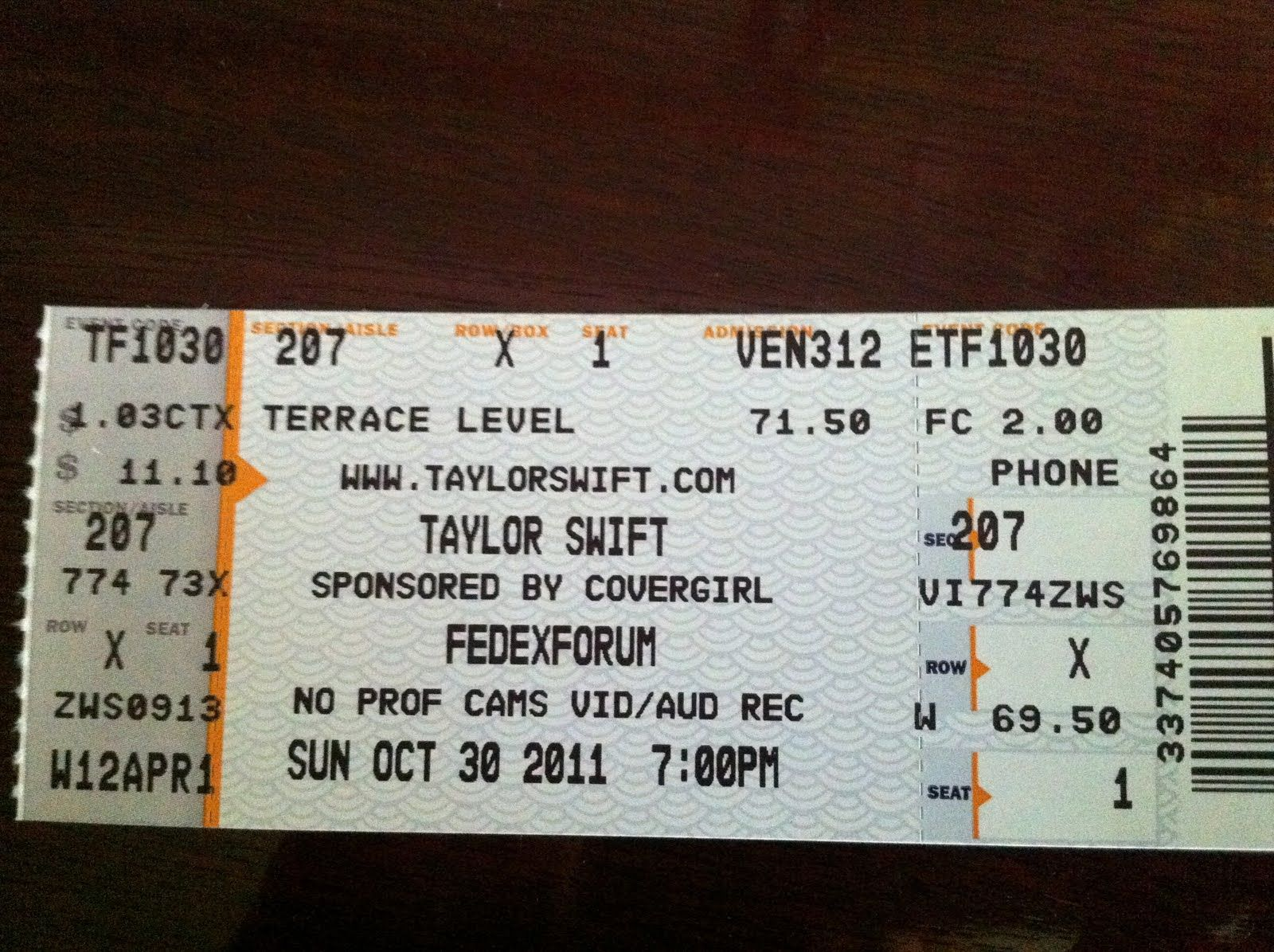 Day 16 Taylor Swift Ticket I Did Not Go To This Show However I Did Have The Opportunity To Go To Taylor Lyrics Taylor Swift Red Tour Best Night Of My Life