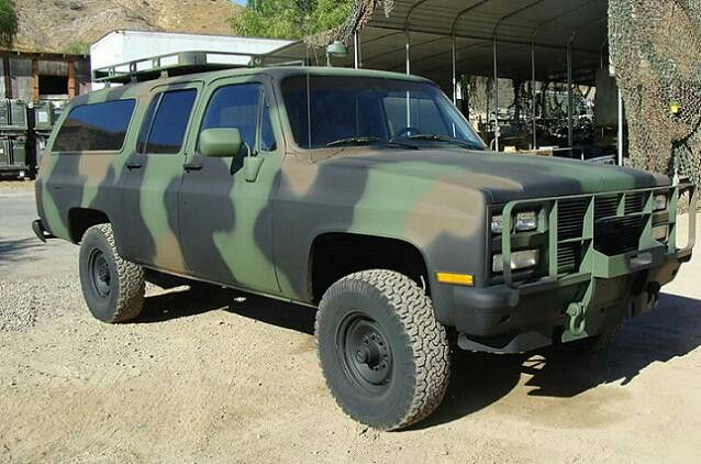 Chevy Suburban Painted Up Like The Cucv This One Should Have Been Made From The Factory Chevy Suburban Tactical Truck Shtf Vehicle