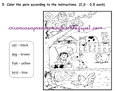 Inglês para crianças: O uso de imagens nos testes de Inglês