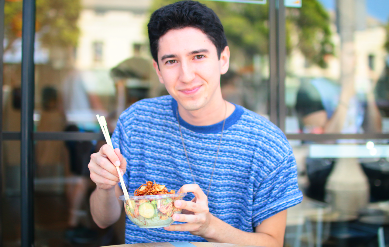 Enjoying our Sweet Fin Poke bowl!