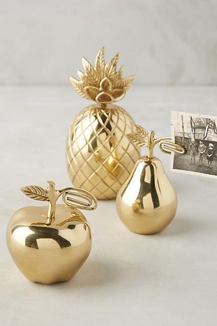 Large  Golden Pineapple Home Decor Ornament Art Deco About 20cm