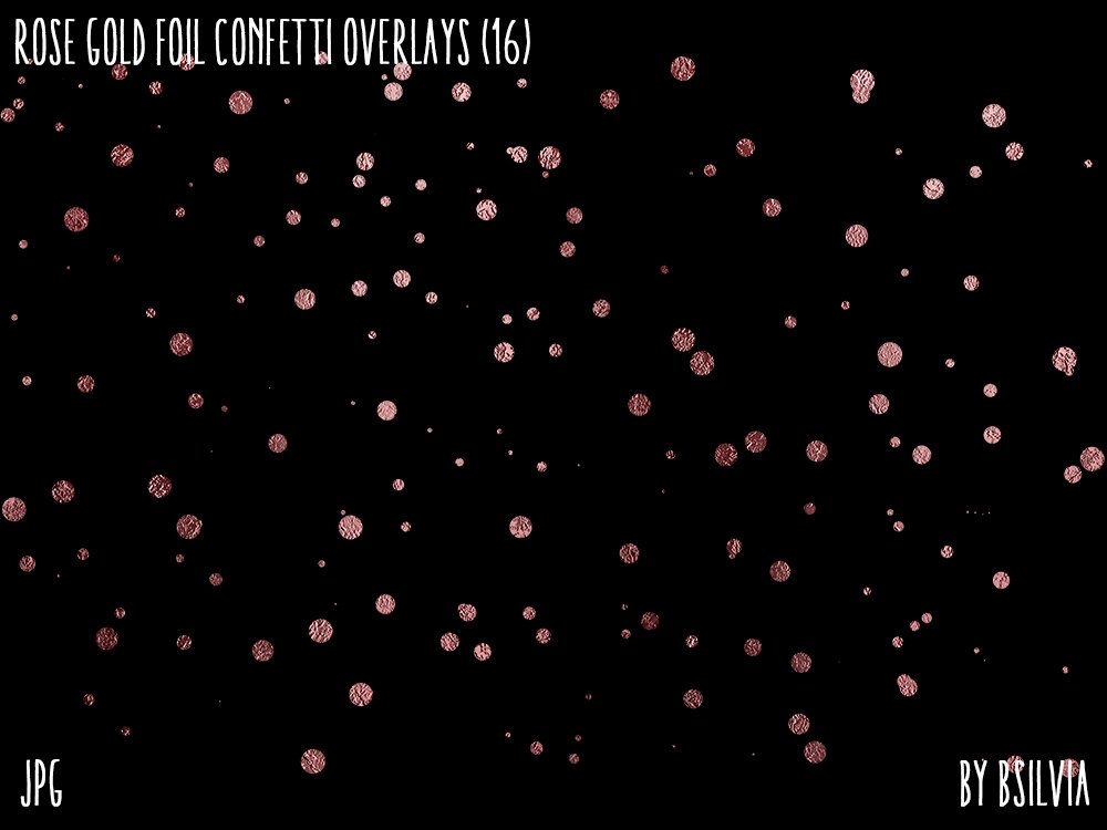 Rose Gold Foil Confetti Clipart Overlays Rose Gold Confetti Etsy Rose Gold Confetti Photoshop Overlays Photo Overlays