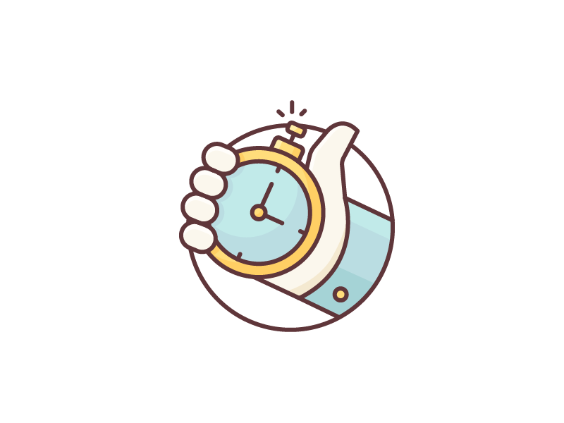 Time Is Ticking Outline Illustration Clock Icon Vector Artwork