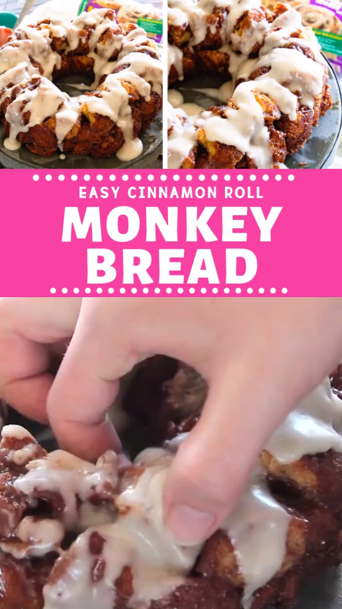 Easy Cinnamon Roll Monkey Bread
