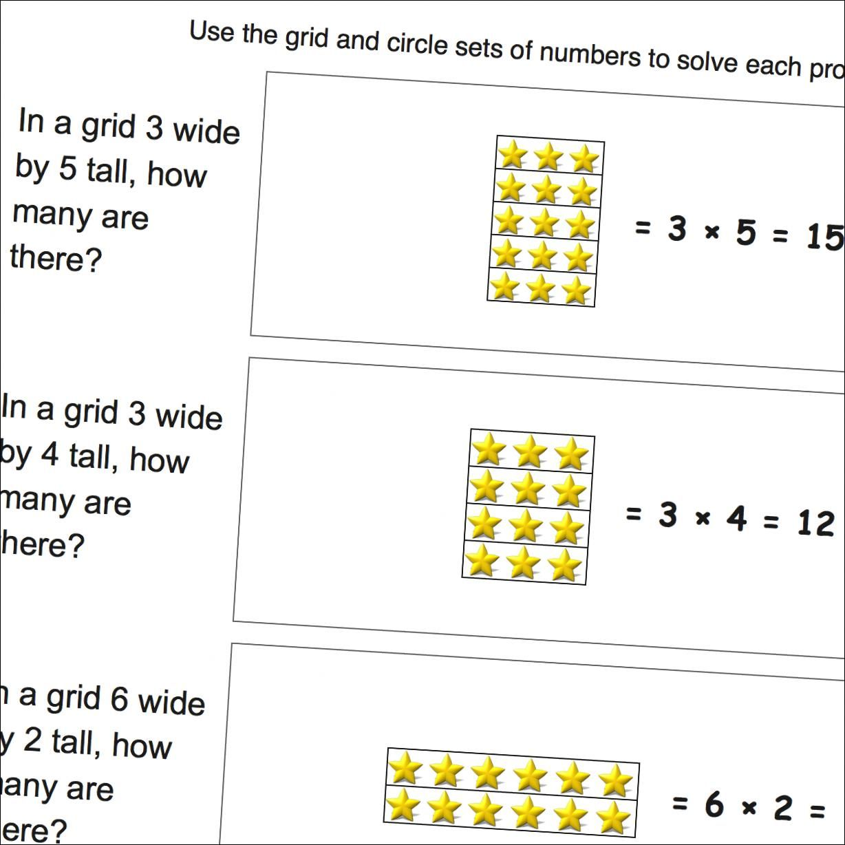 Multiplication Worksheets Multiplication Word Problems