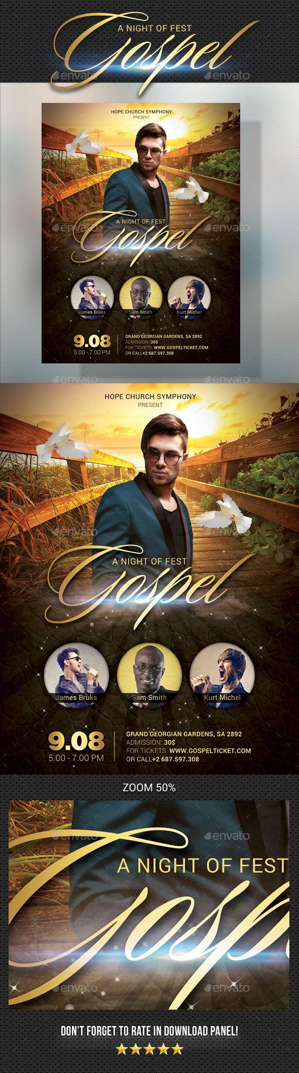Gospel Flyer Flyer Design Templates Template And Flyer Template