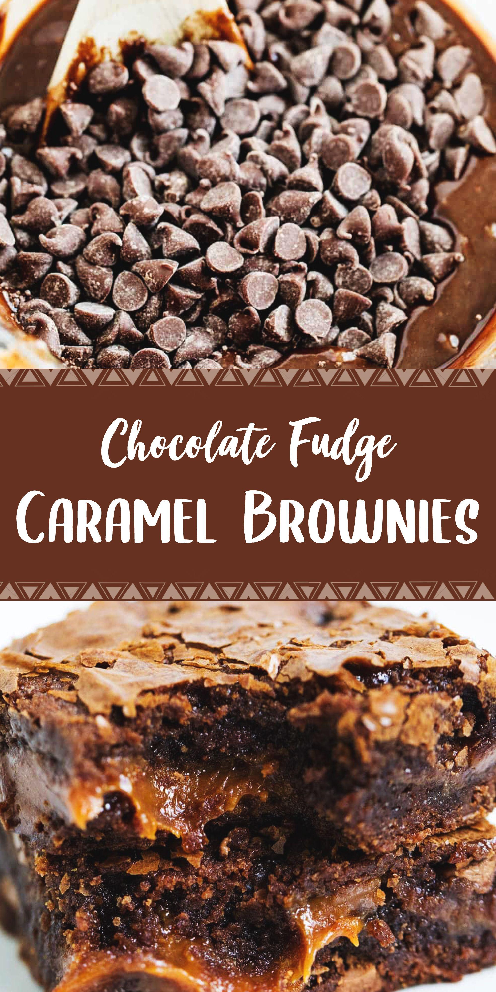 Chocolate Fudge Caramel Brownies Caramel Brownies Brownie Mix Recipes Chocolate Fudge