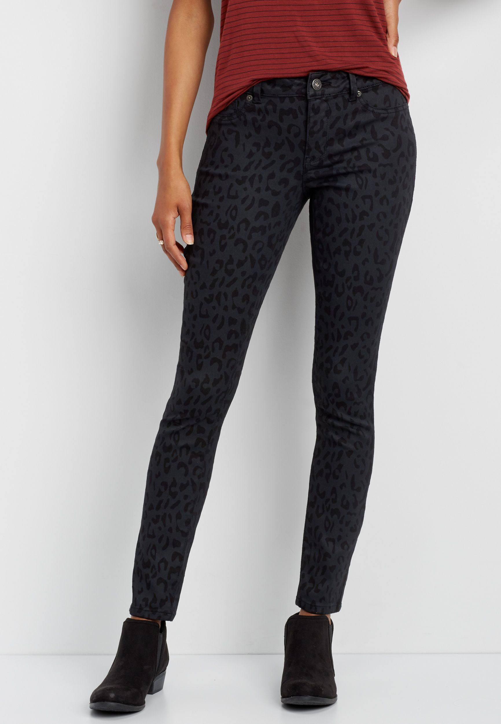 d92608a95df78 DenimFlex™ jegging in animal print | MAURICES | Jeggings, Black ...
