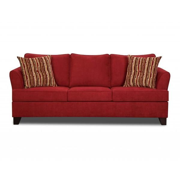 Beau Made To Order Simmons Upholstery Diver Red Queen Hide A Bed   Overstock™  Shopping   Great Deals On Simmons Sofas U0026 Loveseats