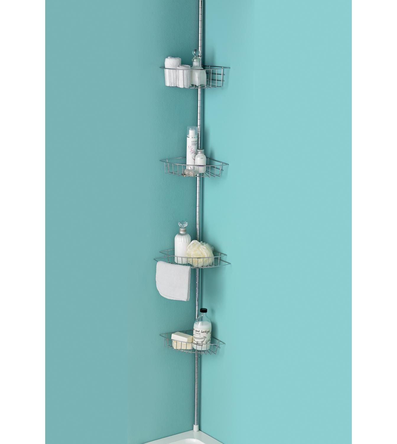 Image for 4-Tier Chrome Finish Bath/Shower Caddy from studio ...