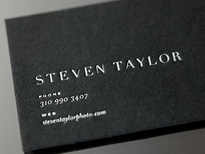 15 Sleek Examples Of Black Business Cards Business Card Design Black Business Card Cool Business Cards