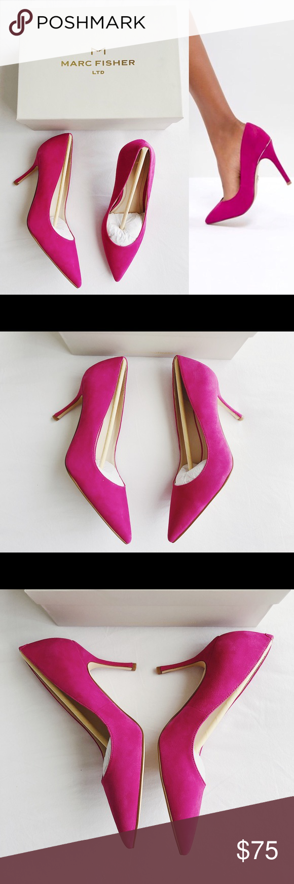 10c0df3fef7 New MARC FISHER LTD Carter Suede Pointed Toe Pumps Marc Fisher Ltd  Carter   Suede