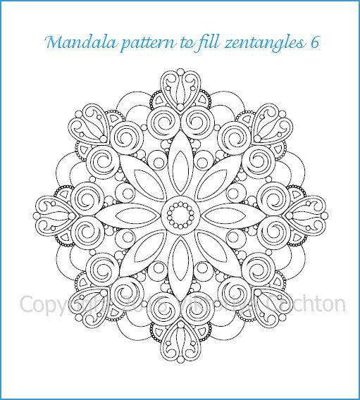 Mandala pattern to fill zentangles or coloring, mandala