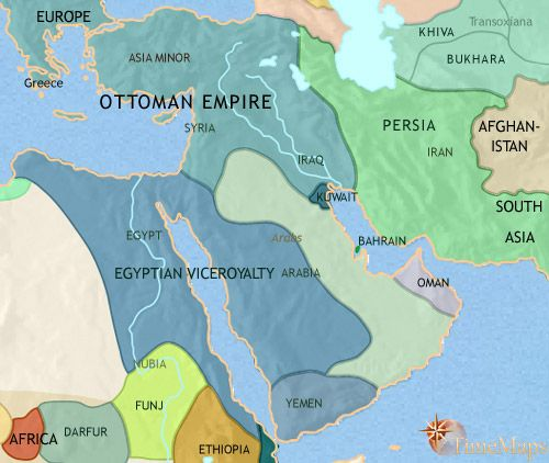 history map of Middle East 1837AD The Middle East Collection