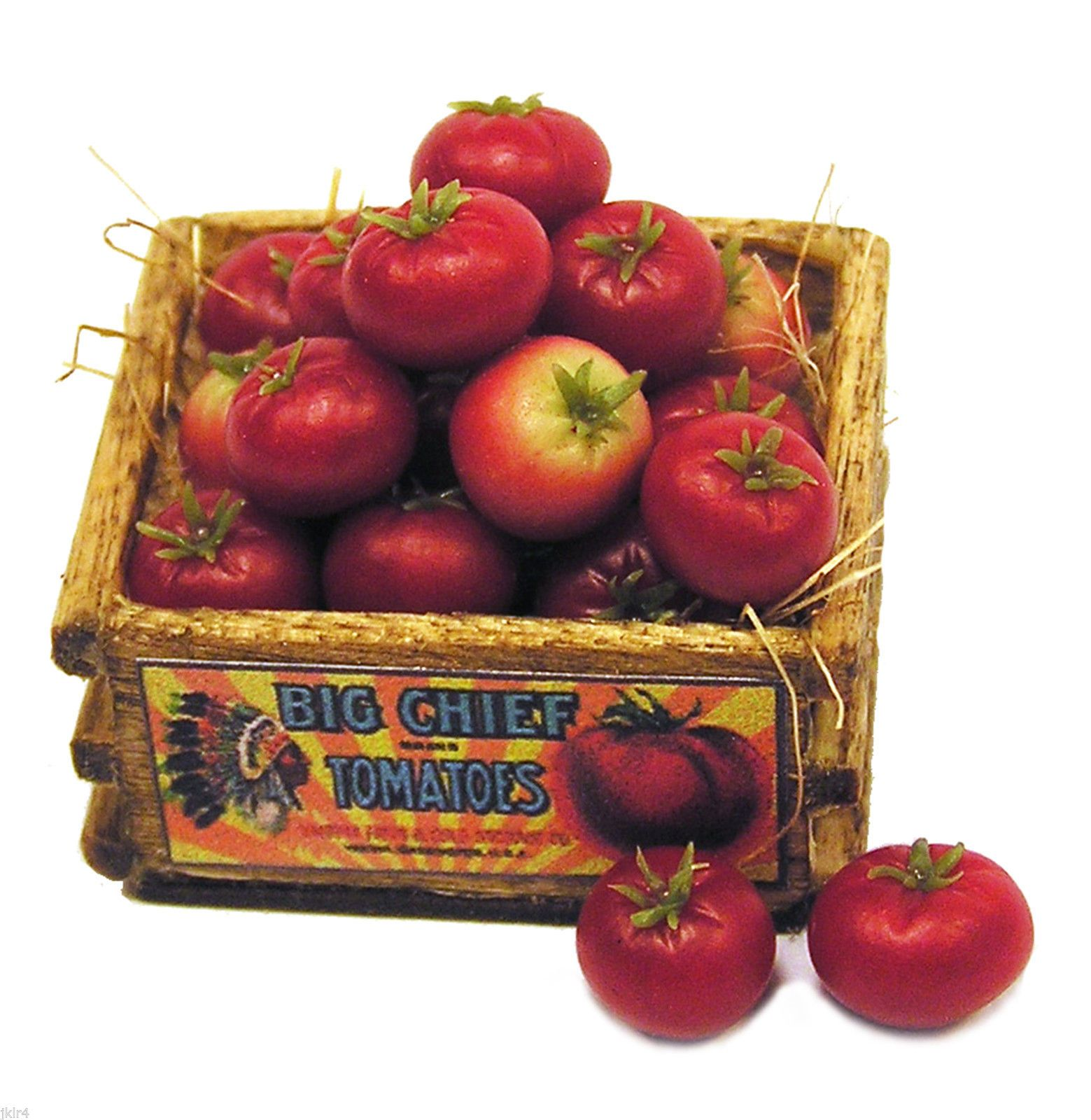 Dollhouse Miniature Crate of Red Tomatoes Handmade 1 12 Scale | eBay