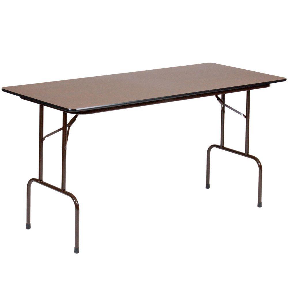 Correll 36 Bar Height Folding Table 30 X 72 Melamine Walnut