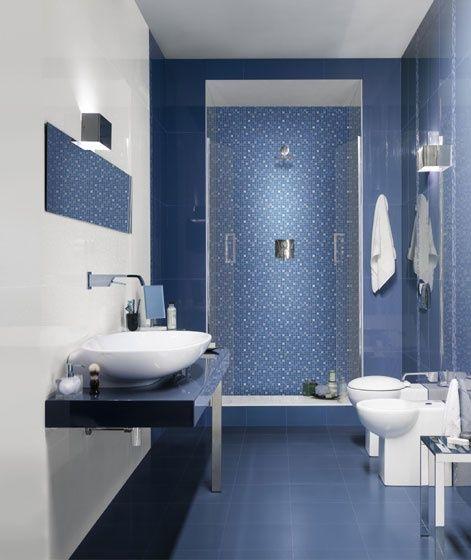 Arredo Bagno Colore Azzurro.Mosaic On Back Wall Only Arredamento Bagno Idee Bagno Blu Bagno Interno