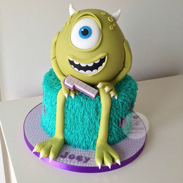 Monsters Inc 1st birthday cake Birthday cakes Monsters and Cake