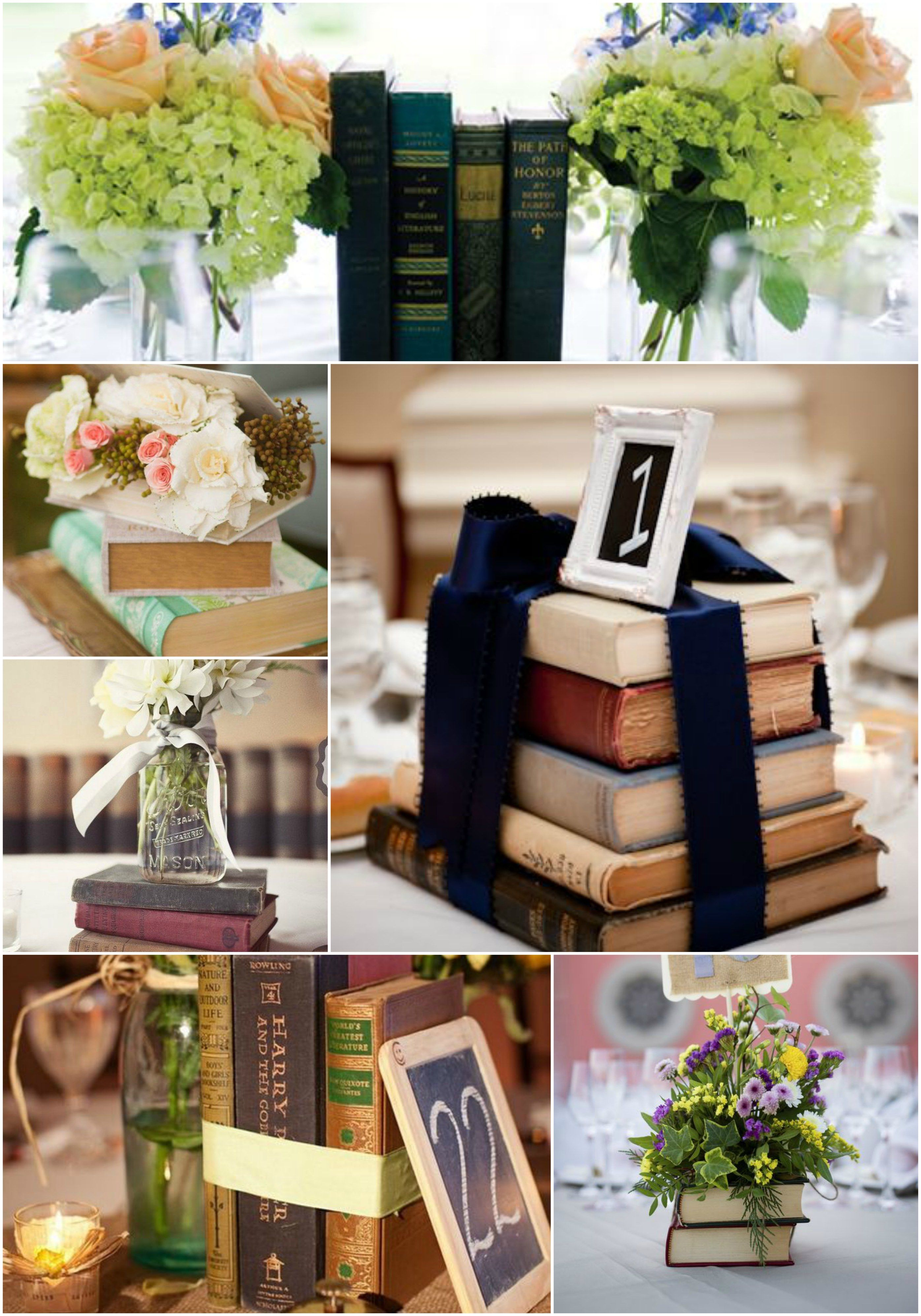 Centros De Mesa Libros Arreglos De Mesa Book Centerpieces Wedding Centerpieces Non Floral