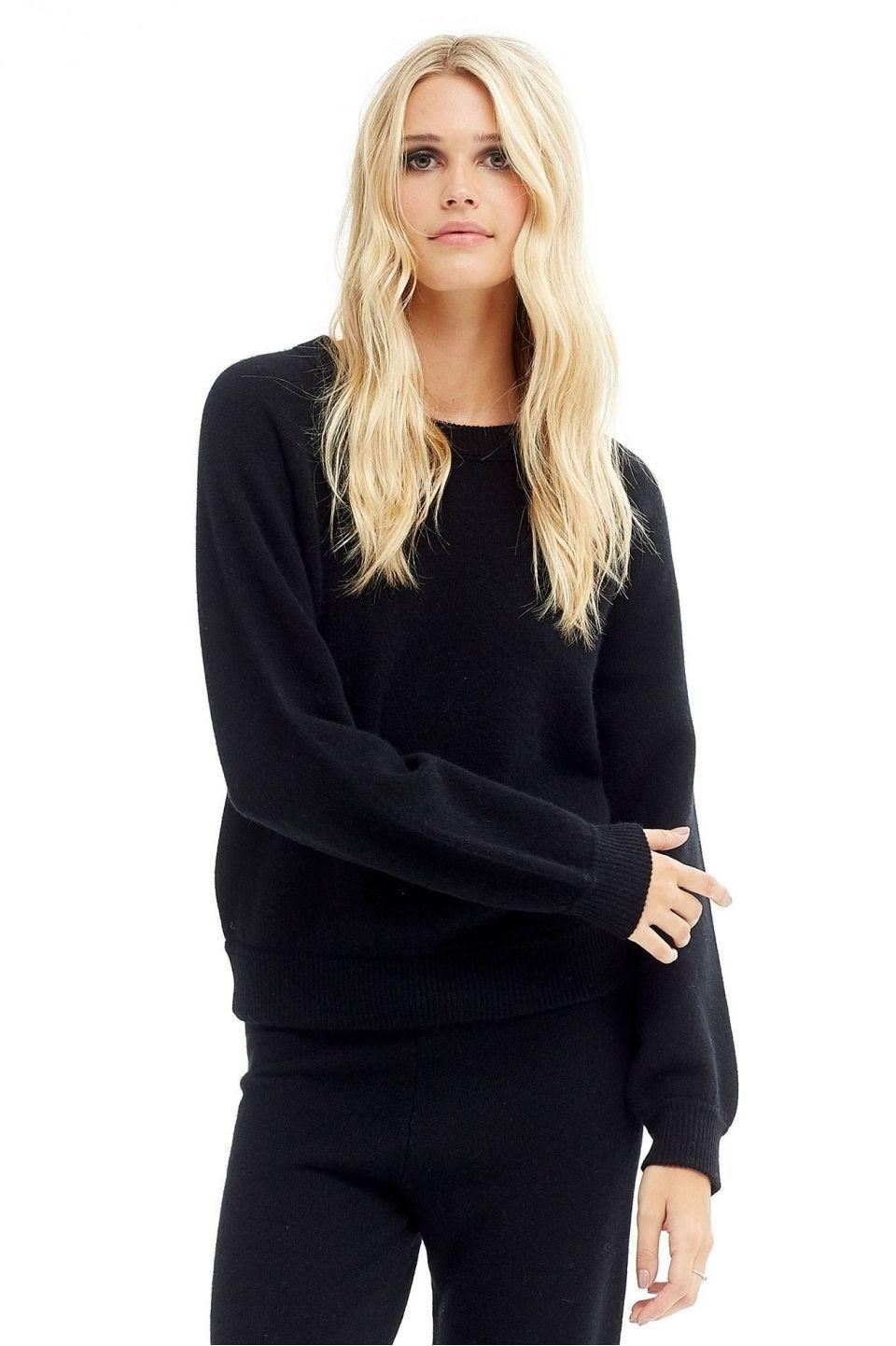 Women's Aviana Cozy Crew Neck Cashmere Sweater | NakedCashmere ...