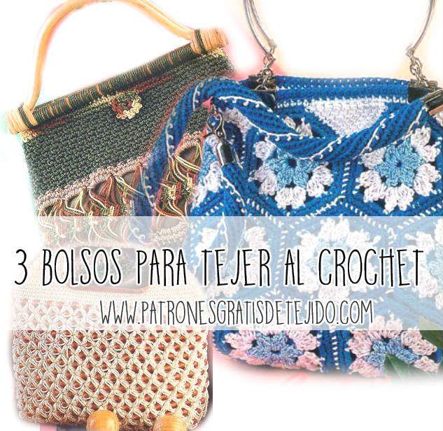 esquemas ganchillo de bolsos tejidos   BOLSAS EM CROCHÊ   Pinterest ...