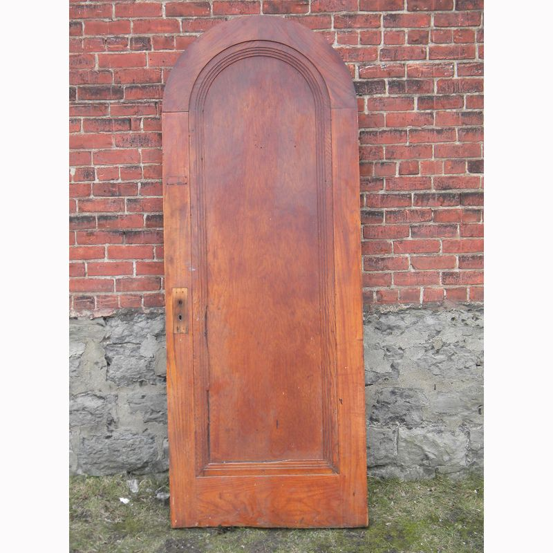 Antique Round Top Oak Interior Door Oak Interior Doors Doors Interior Oak Doors
