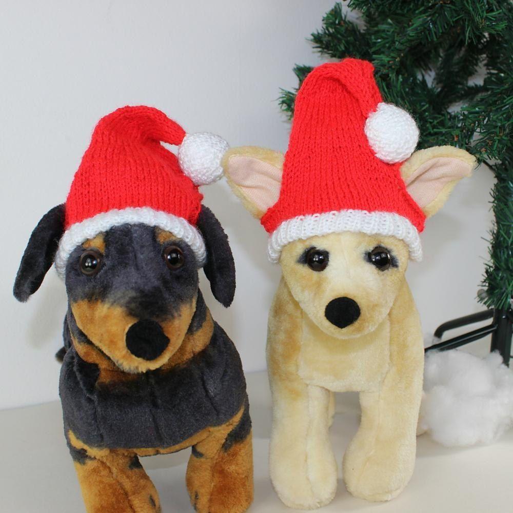 e2fbf523a840c Free Dog Christmas Santa Hat Knitting pattern by madmonkeyknits