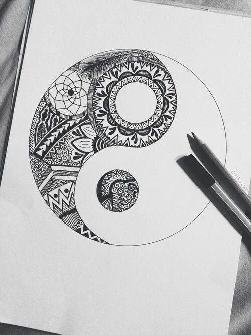 Gorgeous Ying Yang Mandala Tattoo Tattoo Drawing Tattoo Ideas