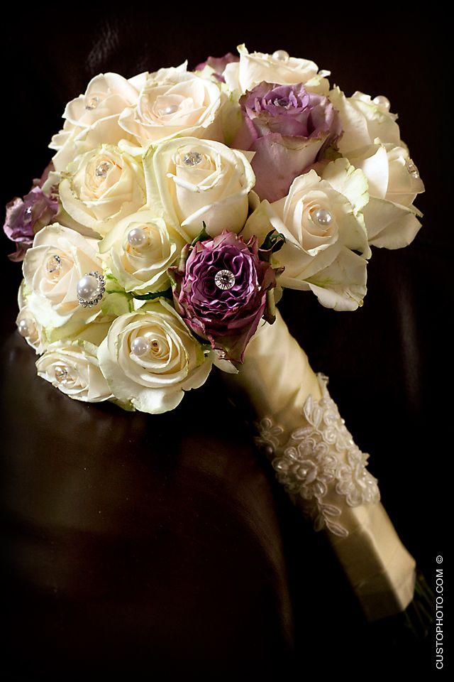 Cream and Purple Wedding Flowers | Weddings Purple (wedding, flowers ...