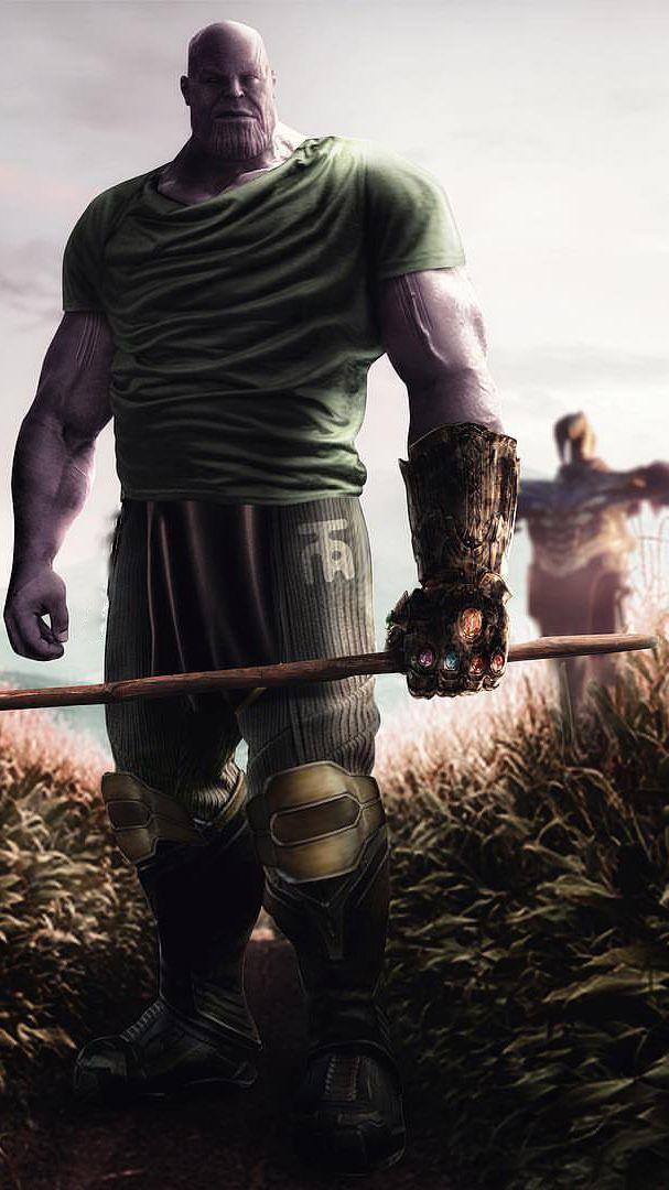 Thanos Scarecrow Farmer Iphone Wallpaper Marvel Superheroes Thanos Marvel Avengers
