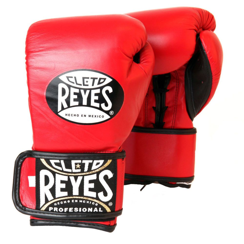 Cleto Reyes Leather High Top Lace Up Boxing Shoes (Black