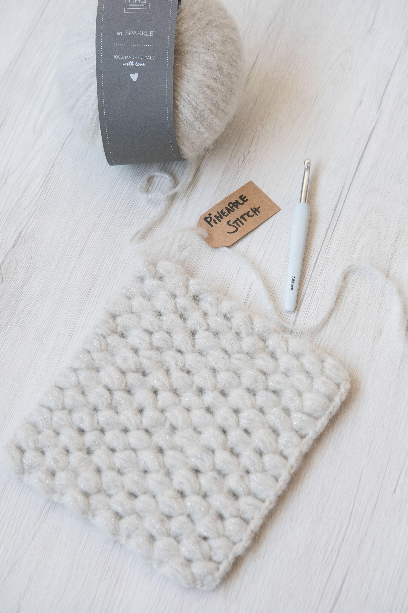 947cb4f681b3 How to do the crochet pineapple stitch.
