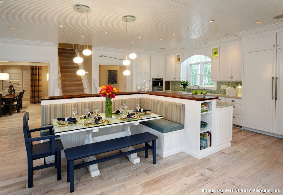 Modernkitchentablebenchseatingwithcontemporarykitchen1 Extraordinary Contemporary Kitchen Tables Design Inspiration