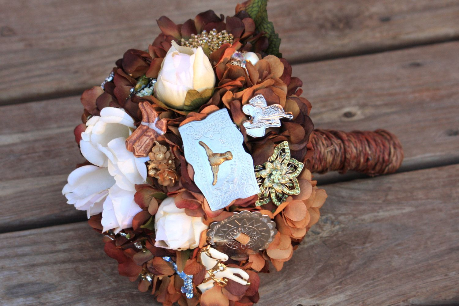 Country Western Brooch Bouquet Cowboy Etsy Wedding By Rusticcreek