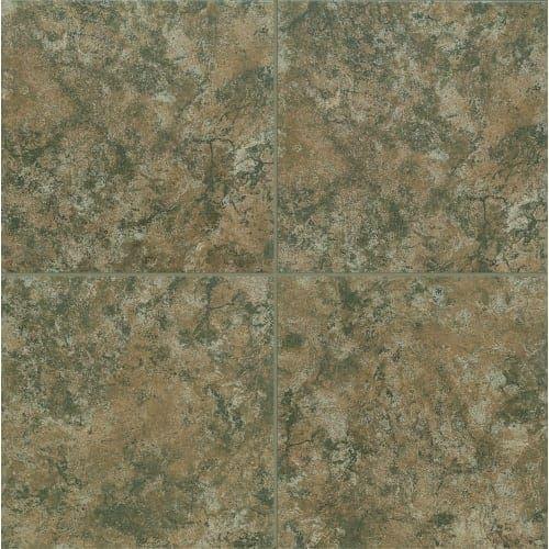 Mohawk Industries Saddlestone Brown Porcelain MultiSurface - 13 inch floor tiles
