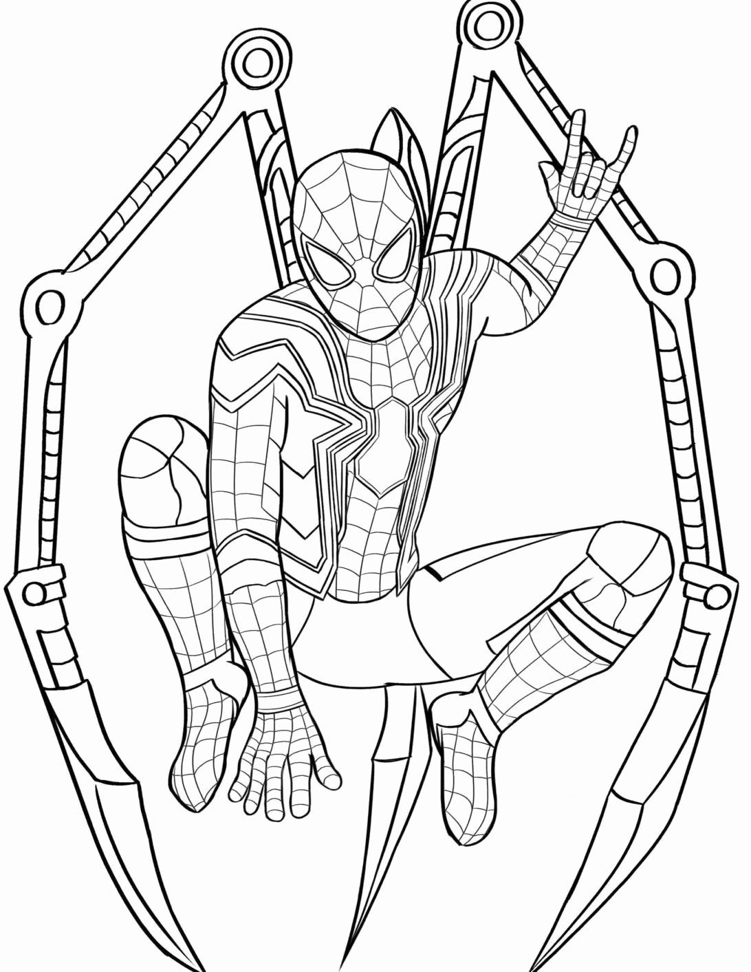 Thanos And Spiderman Coloring Pages For Kids Coloring Pages Marvelous Image Free Spiderman Col In 2020 Avengers Coloring Pages Spider Coloring Page Spiderman Coloring