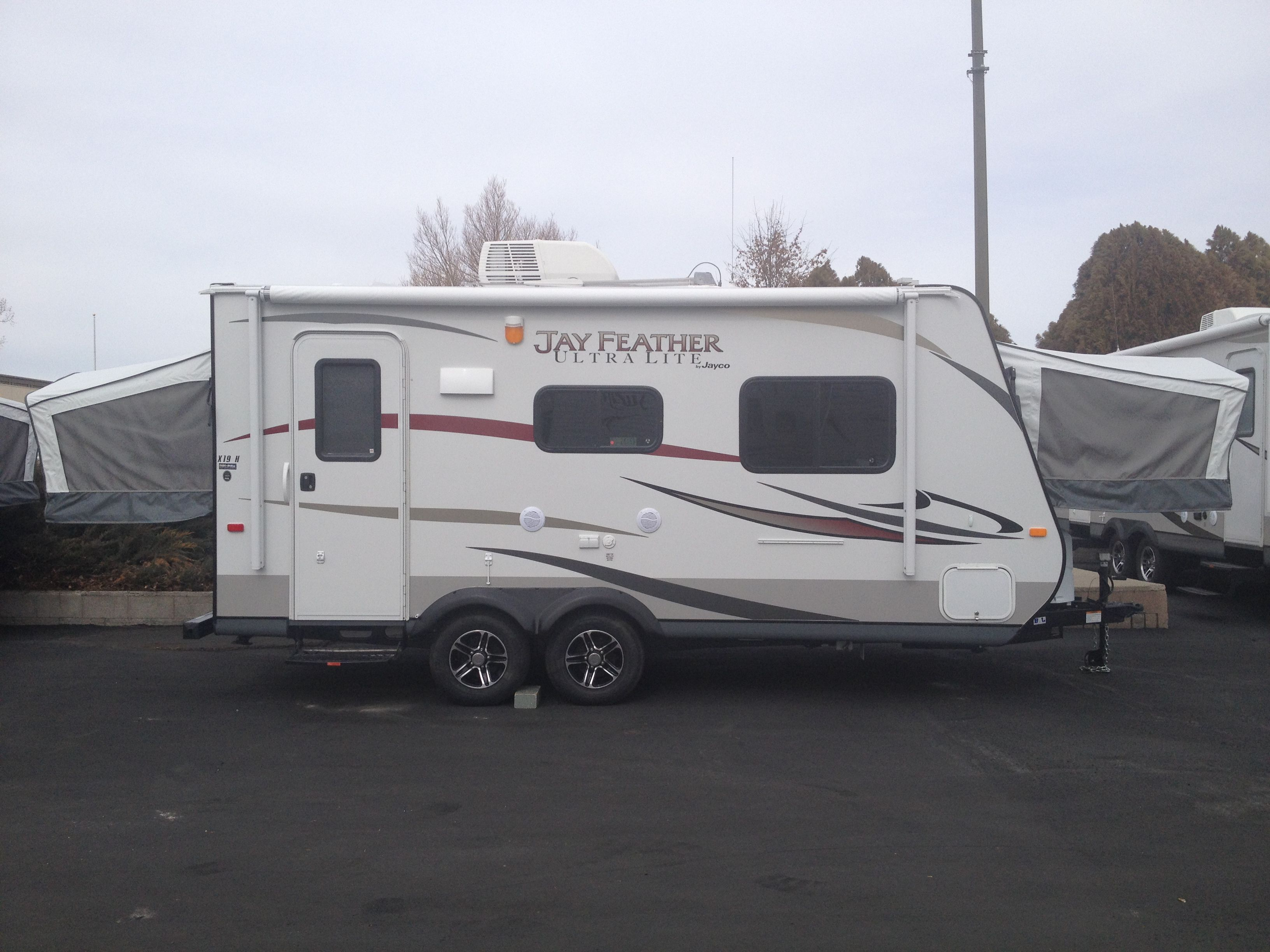 Our New Trailer Jayco Hybrid 19h Can T Wait To Go Camping Recreational Vehicles Rv Stuff Go Camping