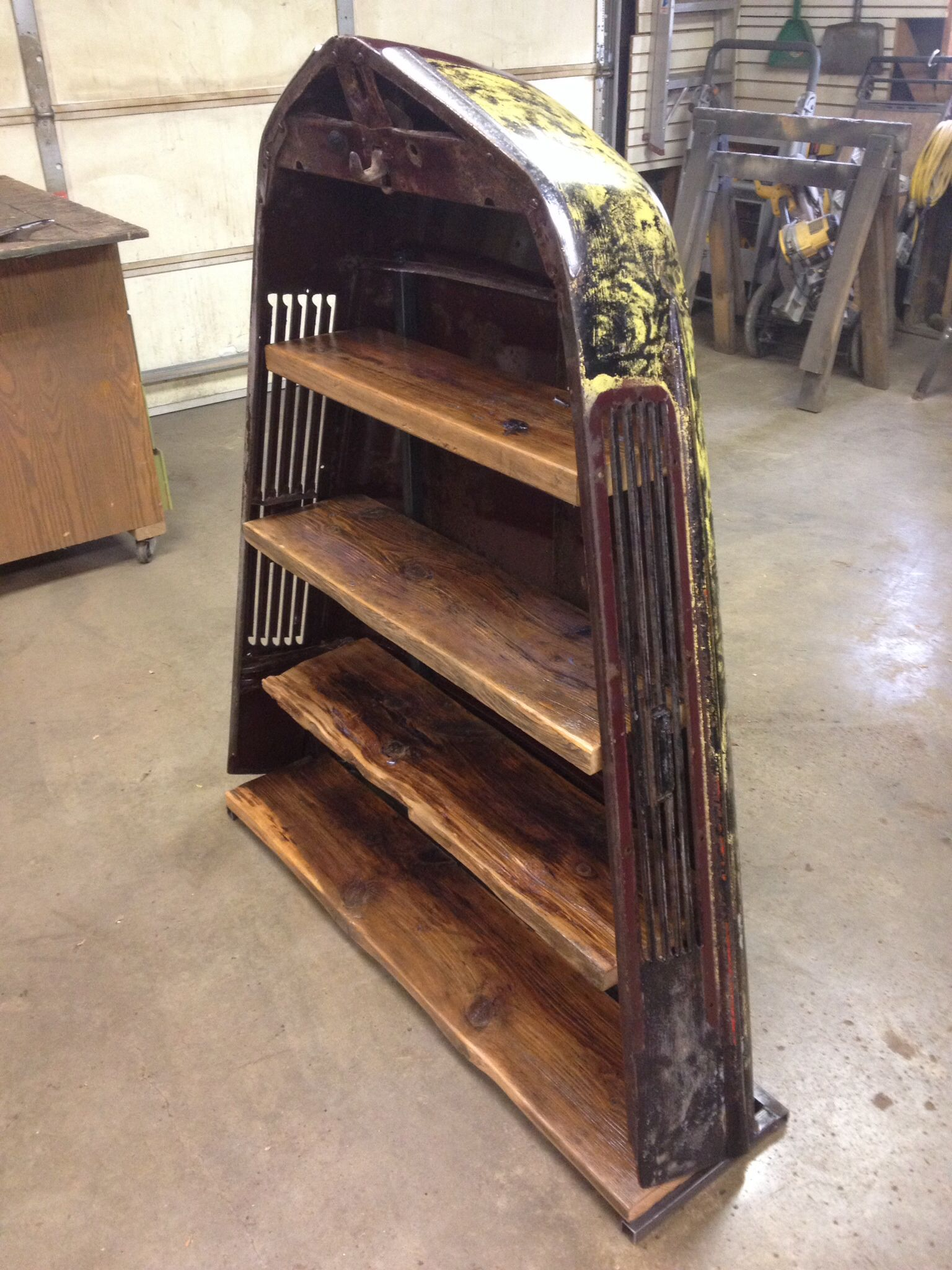 1941 Ford Tuck Hood Turned Into A Shelving Unit For Sale
