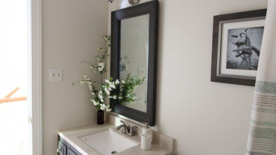 How to Make a DIY Bathroom Mirror Frame   Pinterest
