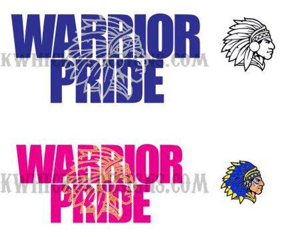 Indian Warrior Pride Knockout Font SVG Vector DXF SCAL