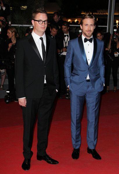 ニコラスワインディングレフンライアンゴスリングと監督ニコラスワインディングレフンは、カンヌ映画祭で彼らの新しい映画 ドライブの上映のためにレッドカーペットで見られる。