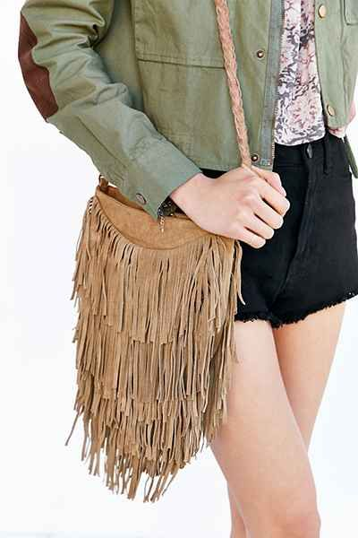 9e775a2ab Ecote Suede Layered Fringe Crossbody Bag | dress me up... | Fringe ...
